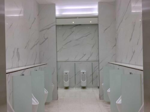 White toilet modern restroom,new lavatory with marble style